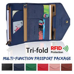$enCountryForm.capitalKeyWord UK - Travel Wallet Passport Holder Rfid Organiser Pouch Storage Bag For Cards Documents Money Ids Tri-fold Multi-function Pu Leather