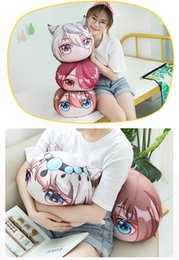 cartoon sleeping children Australia - Game Arknights Plush Cartoon Toys Soft Stuffed Pillow Sofa Backrest Cushion Lovely Office Sleeping Doll Children Birthday Gift