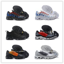 air plus shoes 2019 - 2019 Hot Mercurial Plus Tn Ultra SE Black Red Gray Big Logo Running Shoes AAA Quality Air Cushion Mens Trainers Sports S