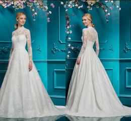 023a10c4c57 Robe de soiree 2019 modest long sleeve high neck wedding dress muslim women  elegant lace appliques cheap wedding gows hot sale bride dresses