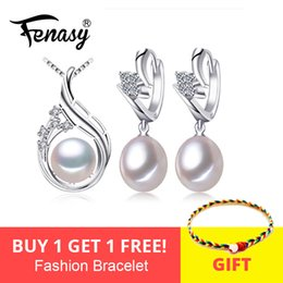 $enCountryForm.capitalKeyWord Australia - Fenasy 925 Sterling Silver Earrings With Stones,natural Pearl Jewelry Sets For Women,bohemian Ethnic Earrings Pendant Necklace J190628