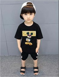 Ingrosso New Designer Brand 1-9 anni Baby Boys Girls T-shirt Summer Shirt Top bambini Tees Abbigliamento per bambini