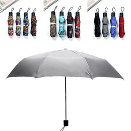 triple handle Australia - Flower Color Folding Umbrella Outdoors Fishing Short Handle Triple Folded Umbrellas Multi Colors Sunshade Articles New Arrival 4 9rs L1