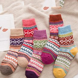 2a458732cd852 5 Pairs 2018 Brand New Women Thick Warm Wool Cashmere Soft Solid Casual  Cotton Socks Winter Colorful Warm Socks