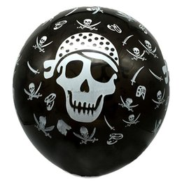 pirates pearl NZ - Novelty Tronzo 100Pcs 12Inch Halloween Latex Balloons Pirate Sharp Knife Design Black Air Ball For Kids Toys Birthday Party Decorations