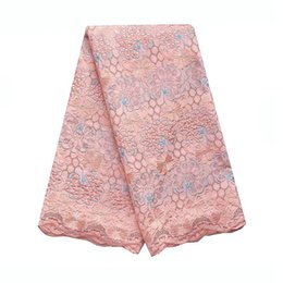 Wholesale swiss voile lace nigeria resale online - Peach Dry African Lace Fabric Swiss Voile Lace High Quality Nigeria Laces Royal Blue Cotton Swiss Fabric Bridal Lace Fabric