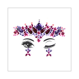 Jewelry Gems Design Australia - 3D Beauty Flower Spider Web Waterdrop Sticker Design Face Gems Crystal Jewelry Temporary Tattoo Bohemia Wedding Stage Body Makeup Rhinestone