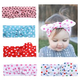 $enCountryForm.capitalKeyWord Australia - Europe and The United States Hot New Children's Rabbit Ears Hair Band Baby Knotted Headband Baby Bow Hair Accessories