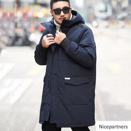winter parka jackets for men Australia - Men coat hat men winter jacket long cool coat high quality new winter brand clothing super large size parka for male