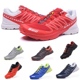 Mens grounding shoes online shopping - Salomon S Lab Sense Ultra runner Soft Ground wings fashion Running Shoes sneaker man jogging Athletic Shoes Mens Sports Sneaker