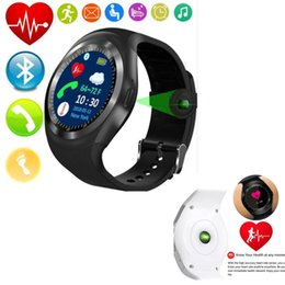 Smart Phone Watch Using Whatsapp Australia - Y1 Smart Watch Support Nano SIM &TF Card With Whatsapp And Facebook fitness Smartwatch For huawei samsung IOS Android phone