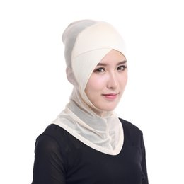 Traditional & Cultural Wear 2016 New Arrival Women Hijab Under Scarf Tube Hair Bonnet Cap Bone Islamic Head Cover 15 Colors B3