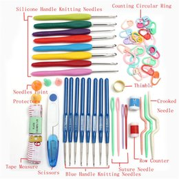 $enCountryForm.capitalKeyWord Australia - DIY Apparel Sewing Fabric Sewing Tools Accessory 57 in 1 Durable 16 Sizes Crochet Hooks Needles Stitches Knitting Case Crochet Set in