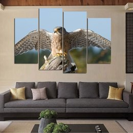 $enCountryForm.capitalKeyWord NZ - 4Pcs set Animal Canvas Painting Birds and Flowers Wall Sticker Pictures All Art Decoration Picture No Frame for Living Room