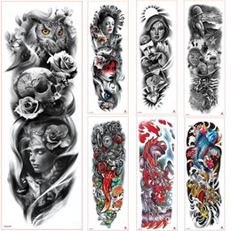 tattoos hand for man NZ - New Arm Tattoo Sticker Skeletons and Roses Temporary Tattoo Stickers Water Transfer Tattoo Sleeve Body Art for Men Women