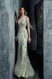 Yousef aljasmi labourjoisie online shopping - Evening dresses Long dress Kim kardashi Sheath Mermaid Pearls Tassel Off shoulder Long sleeve Yousef aljasmi Labourjoisie