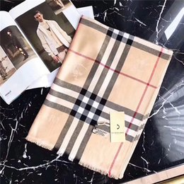 Cotton Plaid Scarves Australia - Fashionable warm and comfortable women's autumn and winter cotton scarf plaid scarf shawl size 180*70cm scarf without box