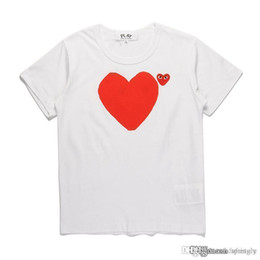 Discount best quality t shirt printing COM Best Quality Men Women White CommeS des 1 Mother and son's heart total handle T-shirt White Size M prompt decis
