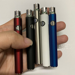 Evod vapEs online shopping - Preheating Button E Cigarettes Vapes Pen Variable Voltage eVod Battery mAh LO Bottom Charge Batteires fit ml Cartridge G2 Metal