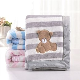 Girls Toddler Bedding Australia - Baby Girl Blanket Newborn Swaddle Wrap Cute Cartoon Pattern Toddler Boys Stroller Bedding Blankets Winter Flannel Children Quilt