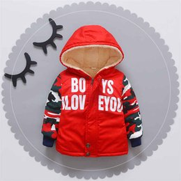 Baby Camouflage Jackets Australia - good quality 2019 new winter baby boy warm cotton jackets toddler casual plus velvet thicken outerwear newborn camouflage snowsuit