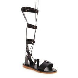 0c5a58d288a White knee high gladiator sandals online shopping - Bandage Women Lady  Heeled Sandals Boots Flat Summer