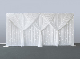 Ice Party Decorations Australia - 10ft x 20ft starlit Wedding backdrops pure white ice silk curtain Marriage decoration Veil party stage backdrop Props