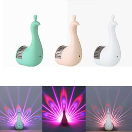 christmas wall projections 2019 - Creative Peacock Wall Lights 3D LED Projection Night Light Magic Colorful Remote Control Lamp Home Decoration night ligh