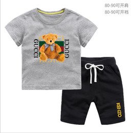 baby wearing tracksuit UK - baby boys clothing sets children autumn winter wear cotton casual tracksuits kids clothes sports suit hot