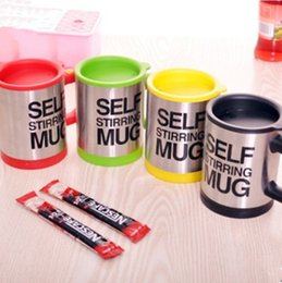 self stirring mugs Australia - 400ml Mugs Automatic Electric Lazy Self Stirring Mug Cup Coffee Milk Mixing Mug Smart Stainless Steel Juice Mix Cup