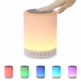 $enCountryForm.capitalKeyWord Australia - Night Light Bluetooth Speaker Touch Sensor Control Color LED Bedside Lamp Portable Outdoor Wireless Bluetooth Speakers for iphone android