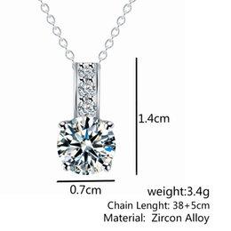 Necklaces Pendants Australia - New Style Zircon Pendant Necklace simple Korean explosion sale wholesale K3461