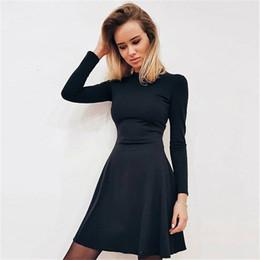 893e1961e00 2019 Spring New Fashion Women s Long Sleeved Tight-fitting Casual Dress Slim  Elegant Mini Prom Party Vintage Female Vestidos