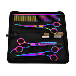 venda por atacado 6 polegadas de aço inoxidável cabelo Scissors Professional Barber salão de cabeleireiro tesouras de corte de Styling Ferramenta Animais Tesoura