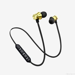 Wireless Headphones Mic Blue Australia - XT11 Wireless Bluetooth headphones Sports In-Ear BT 4.2 Stereo Magnetic earphone headset earbud with MIc For iphone X 8 Samsung With Package