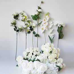 Beautiful White Rose Flowers Bouquet Australia - 2019 Beautiful 7 heads Rose Peony Artificial Silk Flowers small bouquet flores home party spring wedding decoration mariage fake Flower