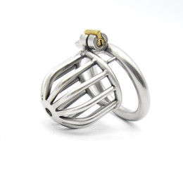 male chastity device cage ring UK - Stainless Steel Male Chastity Device Penis Ring Cock Cage Virginity Lock Rings Sex Toys for Men 40 mm 45 mm 50 mm