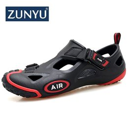 Discount mens narrow shoes - ZUNYU 2019 New Fashion Spring Summer Shoes Men Sneakers Sandals Outdoor Water Shoes Men Beach Sandals Mens Footwear Size