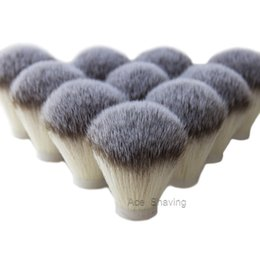 Shaved Head Hair Australia - 10Pcs Lot Nylon Synthetic Soft Hair Wet Beard Shaving DIY Brush Knot Head Size 2769mm