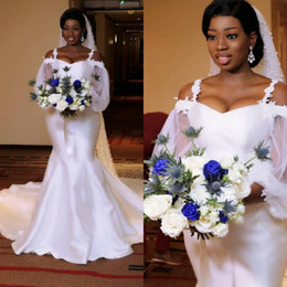 29f92000031 2019 Vintage Mermaid Wedding Dresses For African Bride Long Sleeve Wedding  Dress Maternity Pregnant Bridal Gowns Sexy White Custom Made