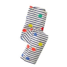 Dot Leggings Australia - 2019 new hot sale models spring summer autumn and winter cotton stripes knit girls Mid waist leggings