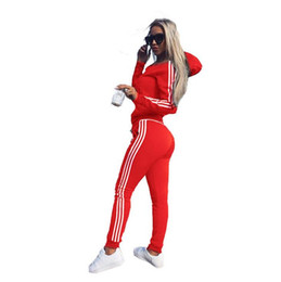 Ladies wearing yoga pants online shopping - New Women Set Ladies Tracksuit Crop Tops Hoodies Sweatshirt Pants Sets Lady Leisure Wear Casual Suit Plus Size High Quality New