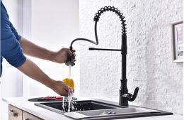 $enCountryForm.capitalKeyWord Australia - European copper kitchen black spring faucet telescopic double water washing basin pull the sink faucet free shipping