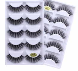 False Eyelash Extension Kits Australia - 2019 New 5pairs Fake Eyelashes 3d Natural False Eyelashes Lashes Soft Eyelash Extension Makeup Kit Cilios G800