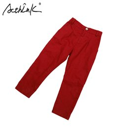 Red White Blue Tutus Australia - New 2018 Boys Casual Cotton Pants Brand Kids Formal Suits Pants for Boys Spring Fall Long Trousers Boys Red White Wedding