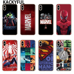 5s cases NZ - For Iphone 7 6 X Case Marvel Avengers Heros Comics Collage Phone Case For Iphone 6 6s 6plus 7 8 Plus 5 5s Xs Xr Xs Max