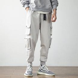 Cool Men Black Pants Australia - 2019 Cool Men Hip Hop Streetwear Fashion Cotton Cargo Pant Multi Pocket Casual Pants Male Harem Trousers Jogger Sweatpants Mens