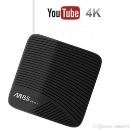 m8s 4k smart android tv box UK - MECOOL M8S Pro L Amlogic S912 3GB 16GB Android 7.1 TV Box Youtube 4K Netflix HD Octa Core Smart Media Player
