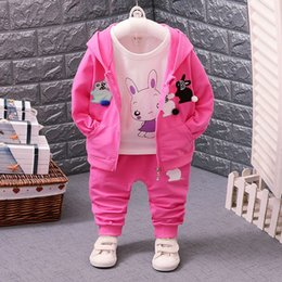 71f393275217 Girls Sleeveless Hoodies Australia - Fashion Autumn Children Girls Clothes  Baby Hoodies T-shirt Pants