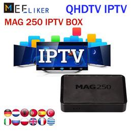 Meilleur boîtier IPTV Linux, boîtier décodeur Mag 250 ip tv, prise en charge du lecteur multimédia Connecteur USB usb Câble comprenant un portail de compte IPTV, mag250